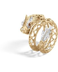 John Hardy - Naga Coil Ring With Diamonds - Lyst