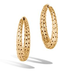 John Hardy - Classic Chain Graduated Small Hoop Earrings - Lyst