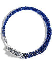 John Hardy - Naga Multi Row Necklace With Lapis Lazuli, Blue Sapphire - Lyst