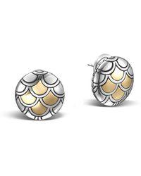 John Hardy - Naga Button Earring - Lyst