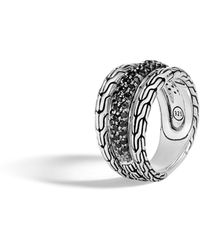 John Hardy - Classic Chain Ring With Blue Sapphire - Lyst