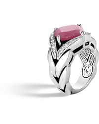 John Hardy - Magic Cut Ring With Pink Sheen Sapphire And Diamonds - Lyst