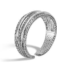 John Hardy - Classic Chain Hammered Cuff - Lyst