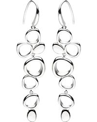 Kit Heath - Sterling Silver Abstract Circle Drop Earrings - Lyst