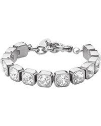 Dyrberg/Kern - Conian Swarovski Crystal Silver Tennis Bracelet - Lyst