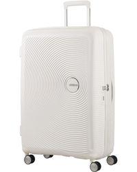 American Tourister - Sound Box White Hard 4 Wheel Extra Large Case - Lyst