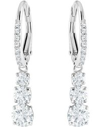 Swarovski - Attract Crystal Drop Hook Earrings - Lyst