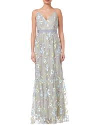 Adrianna Papell - Embroidery Dress - Lyst