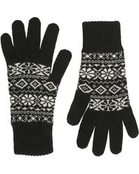 Brora - Cashmere Fair Isle Skinny Gloves - Lyst