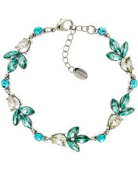 Monet - Glass Crystal Teardrop Bracelet - Lyst