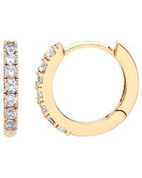 Estella Bartlett - Gold Pave Set Hoop Earrings - Lyst