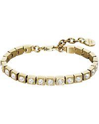Dyrberg/Kern | Dyrberg/kern Swarovski Crystal Tennis Bracelet | Lyst