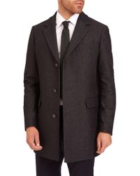 Jaeger - Single Breasted Overcoat - Lyst