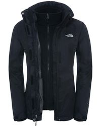 db53ac935 The North Face Suzanne Triclimate 3-in-1 Women's Jacket in Gray - Lyst