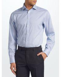 John Lewis - Non Iron Bengal Stripe Regular Fit Shirt - Lyst