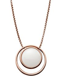 Skagen - Sea Glass Rose Gold-tone Necklace - Lyst