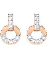 Swarovski - Circle Crystal Stud Earrings - Lyst
