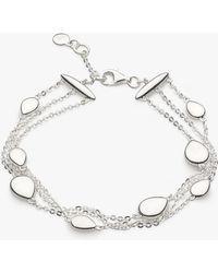 Kit Heath - Triple Row Pebble Chain Bracelet - Lyst