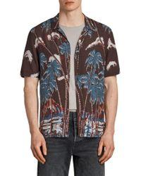 AllSaints - Nalu Short Sleeve Hawaiian Shirt - Lyst