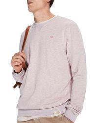 Scotch & Soda - Garment Dyed Jersey Sweatshirt - Lyst