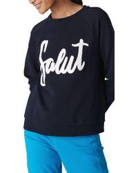 Whistles - Salut Embroidered Sweatshirt - Lyst