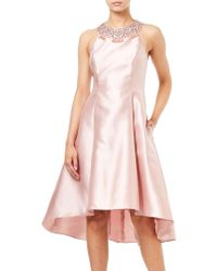 Adrianna Papell - Mikado Flare Pretty Dress - Lyst
