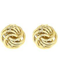 Ib&b - 9ct Gold Mini Rose Stud Earrings - Lyst