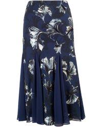 John Lewis - Chesca Contrast Trim Fan Print Skirt - Lyst