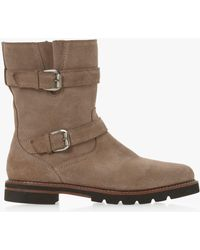 Dune - Rhianne Double Buckle Calf Boots - Lyst