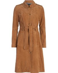 French Connection - Tara Suede Belted Coat - Lyst