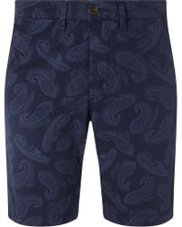 Pretty Green - Foxley Paisley Shorts - Lyst