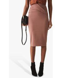 6d9f68dbca Reiss - Icia Pleat Front Pencil Skirt - Lyst