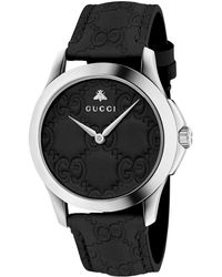 b46f8eb236f Gucci - Ya1264031 Unisex G-timeless Signature Stainless Steel Leather Strap  Watch - Lyst