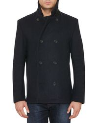 Original Penguin - Double Faced Melton Peacoat - Lyst