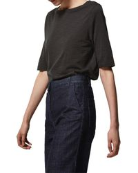 Toast - Stripe Cotton Half Sleeve T-shirt - Lyst