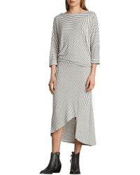 AllSaints - Cadie Striped Dress - Lyst