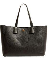 Karen Millen - East West Leather Tote Bag - Lyst