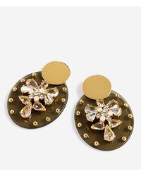 J.Crew - Crystal Shield Drop Earrings - Lyst