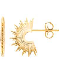 Estella Bartlett - Sunburst Half Hoop Earrings - Lyst