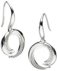 Kit Heath | Twist Cubic Zirconia Drop Earrings | Lyst