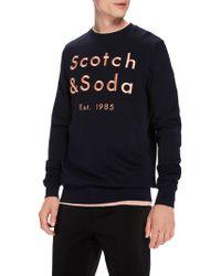 Scotch & Soda - Branded Crew Neck Sweatshirt - Lyst