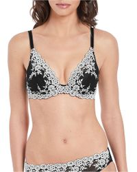 Wacoal - Embrace Lace Underwired Plunge Bra - Lyst