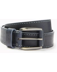 Ted Baker - Tirre Contrast Stitch Leather Belt - Lyst