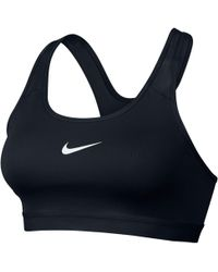32fc424ac14ab Nike Pro Classic Padded Frequency Sports Bra in Blue - Lyst
