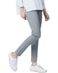 Warehouse - Stripe Skinny Cut Jeans - Lyst