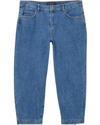 Violeta by Mango - Cropped Jeans - Lyst