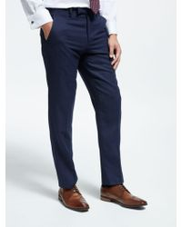 John Lewis - Textured Wool Tailored Suit Trousers - Lyst