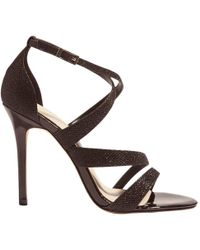 Karen Millen | Glitter Stiletto Heeled Sandals | Lyst
