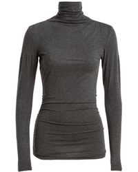 Max Studio - Ruched Roll Neck Jersey Top - Lyst