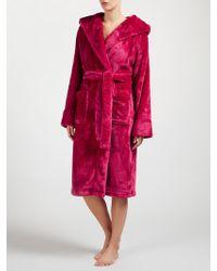 John Lewis - Shimmer Fleece Hooded Robe - Lyst